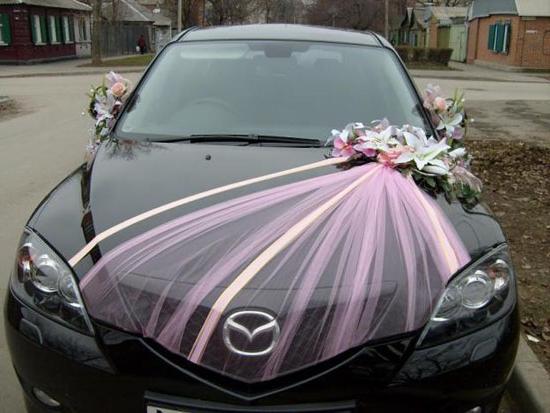 Украшения на машину к свадьбе своими руками